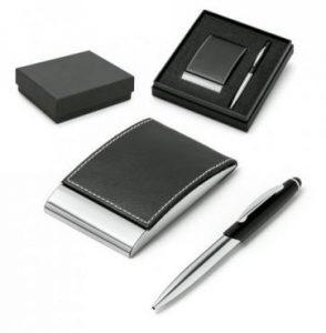 Ensemble stylo et porte-cartes