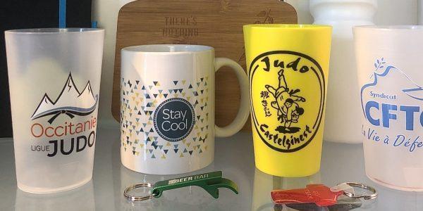 Verres et mugs publicitaires personnalisés